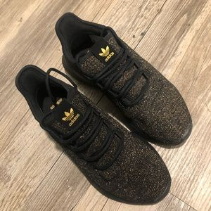 Gold glitter adidas!